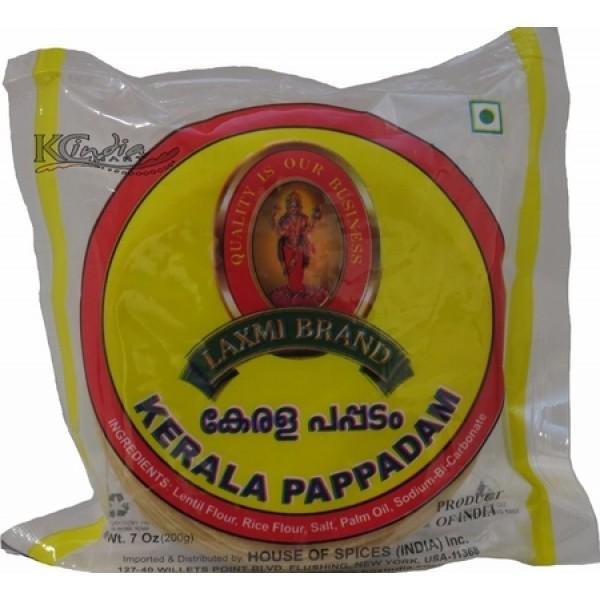Laxmi Brand Kerala Pappadam Oz / 200 Gms