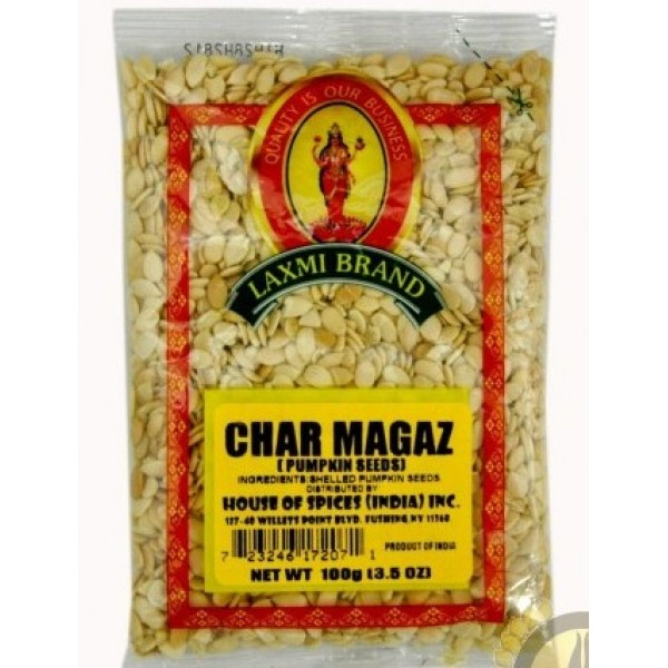 Laxmi Char Magaz (Pumpkin Seeds) 3.5 Oz / 100 Gms