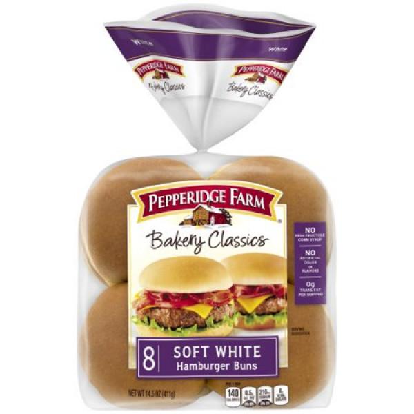 Pepperidge Farm Sesame Topped Hamburger Buns 15 oz / 425 Gms