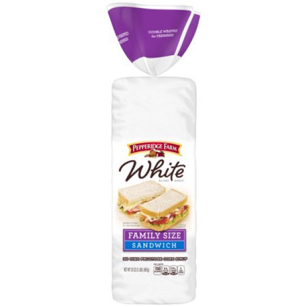 Pepperidge Farm White Family Size Sandwich Bread 32 oz / 907 Gms