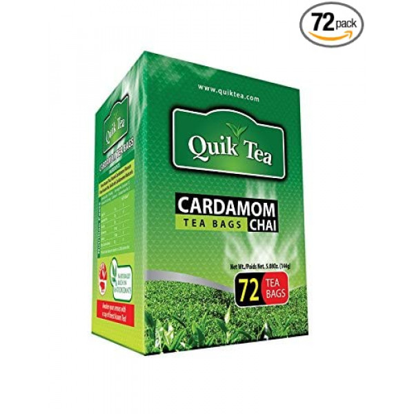 Quick Tea Cardamom Chai 72 Bags 5.08 oz / 144 Gms