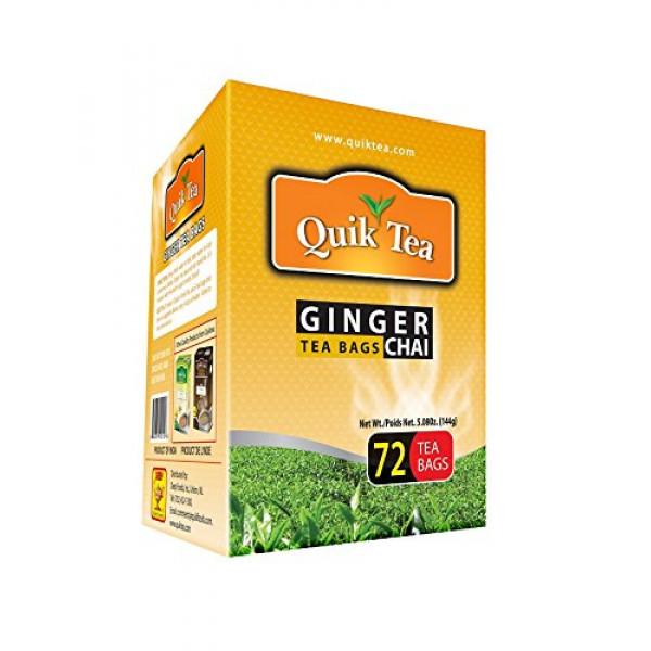 Quick Tea Ginger Chai 72 Bags 5.08 oz / 144 Gms