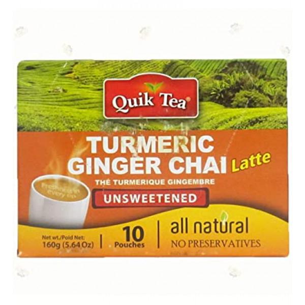 Quick Tea Turmeric Ginger Chai 8.5 oz / 240 Gms 10 Pouches