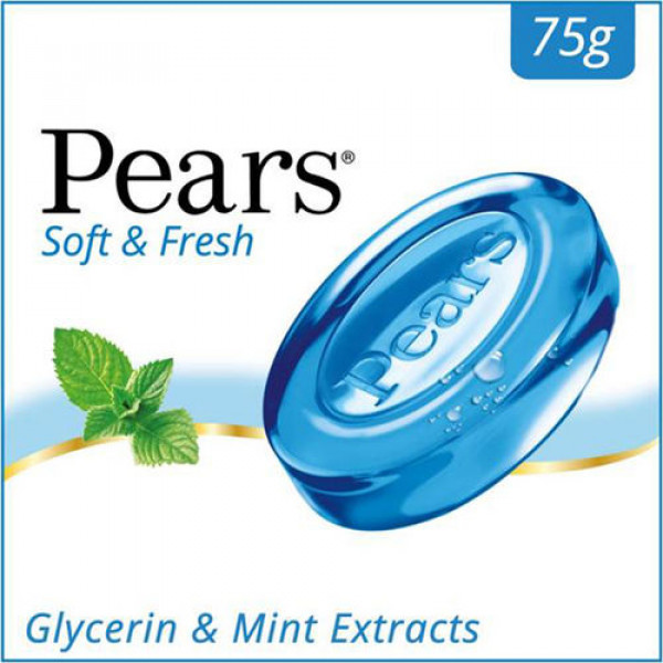 Pears Soap With Giycerin & Mint Extracts 2.64 OZ / 75 Gms