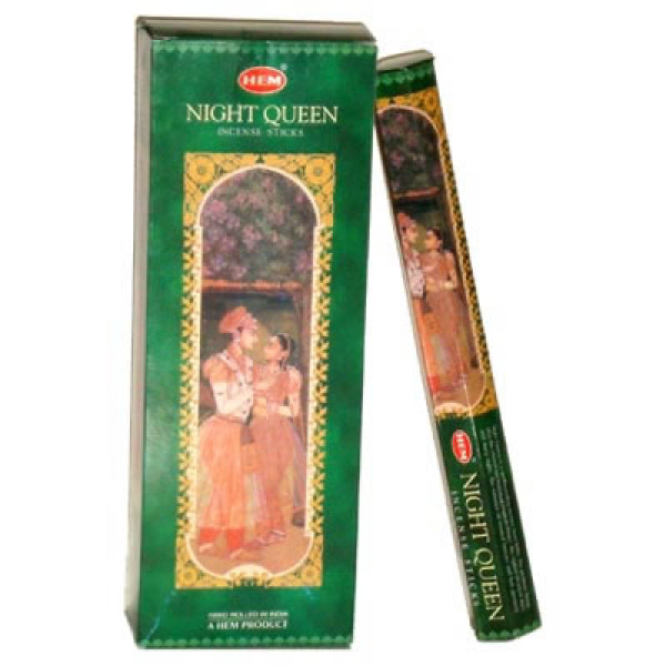 HEM Night Queen Incense Sticks (120 Sticks ) 6 Packs of 20 sticks  each