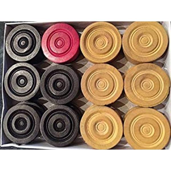 Surco Regd.Trade Mark 24 woooden Carrom Coins /Checker