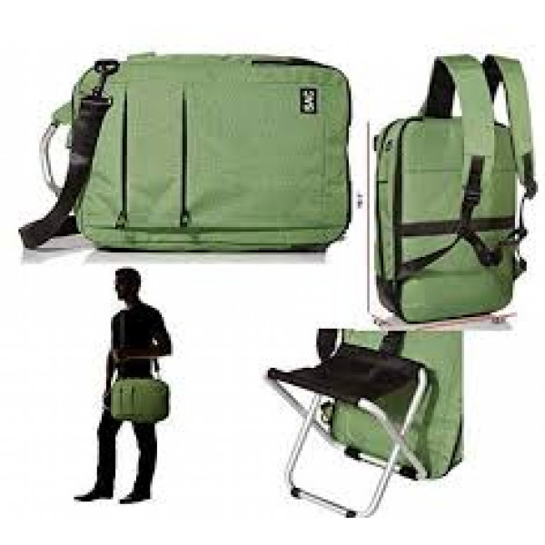 Backpack with built in chair and USB