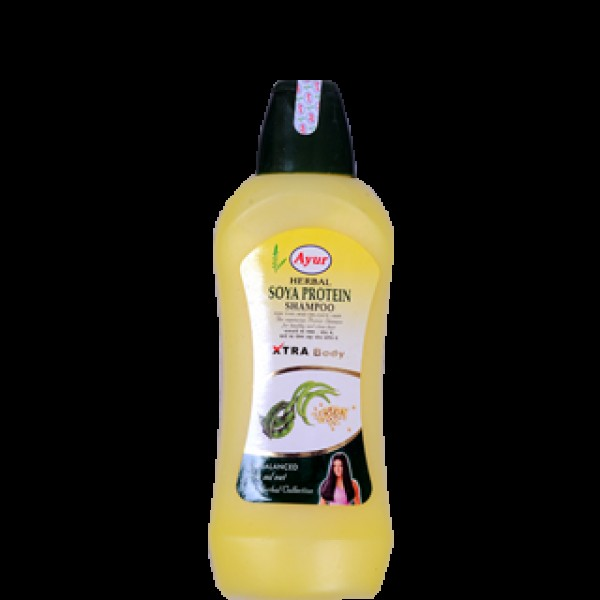 Ayur Herbal Soya Protein Shampoo 16.9 OZ / 500 Ml