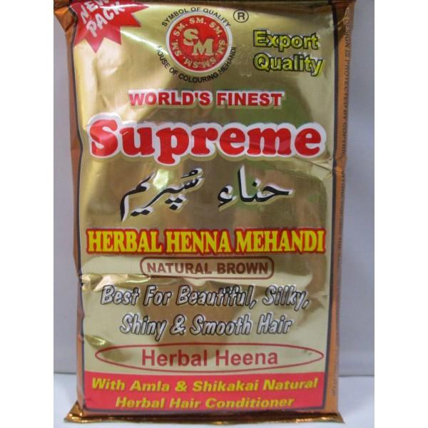 Supreme Natural Brown Mehandi 5.29 OZ / 150 Gms