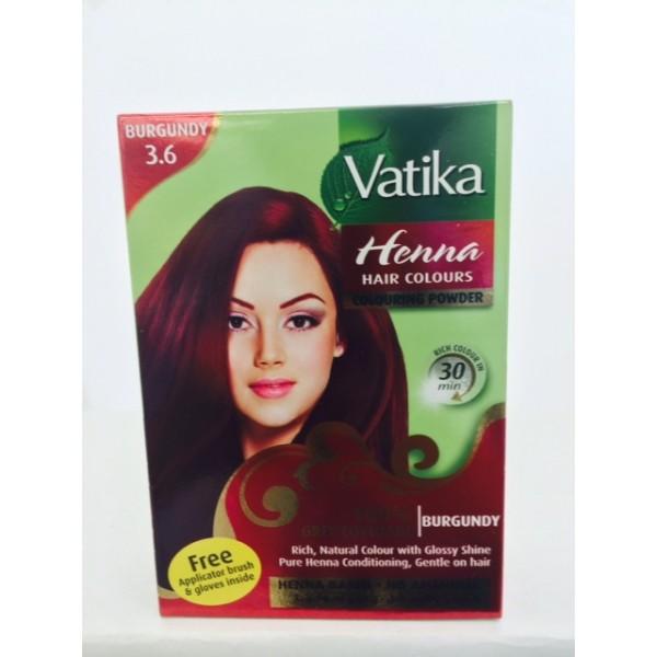 Vatika Burgandy Hair Color 2.12 OZ / 60 Gms