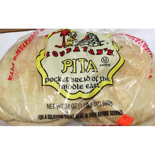 Toufayan's Pita 24 Oz / 680 Gms