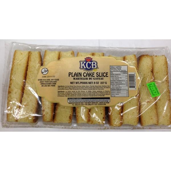 KCB Plain Cake Slice 8 OZ