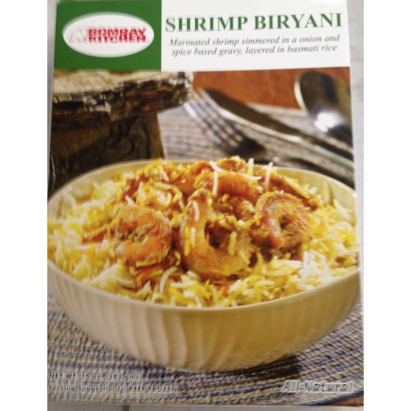 Bombay Kitchen Shrimp Biryani 10 Oz / 283 Gms