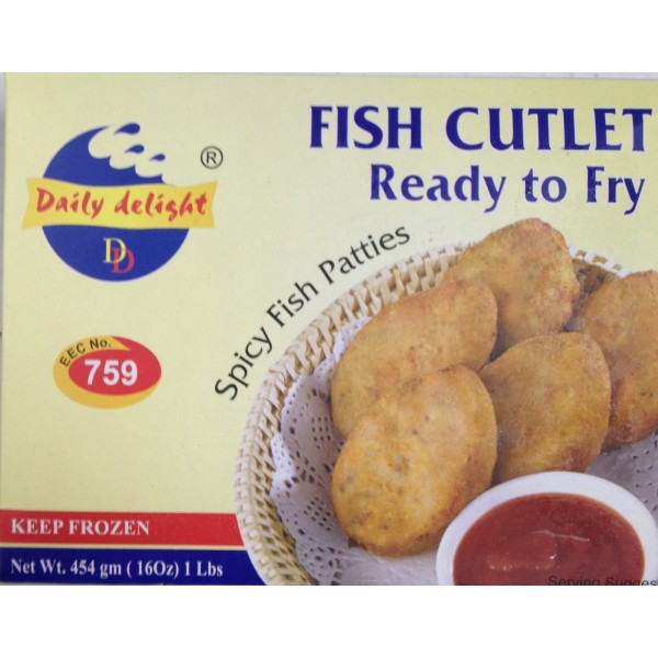Daily delight Fish Cutlet 16 Oz / 454 Gms