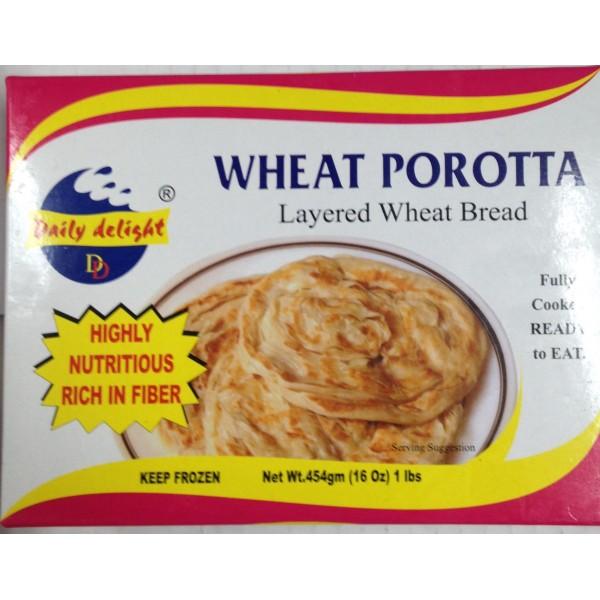 Daily Delight Wheat Porotta 16 Oz / 454 Gms( 4 No's)