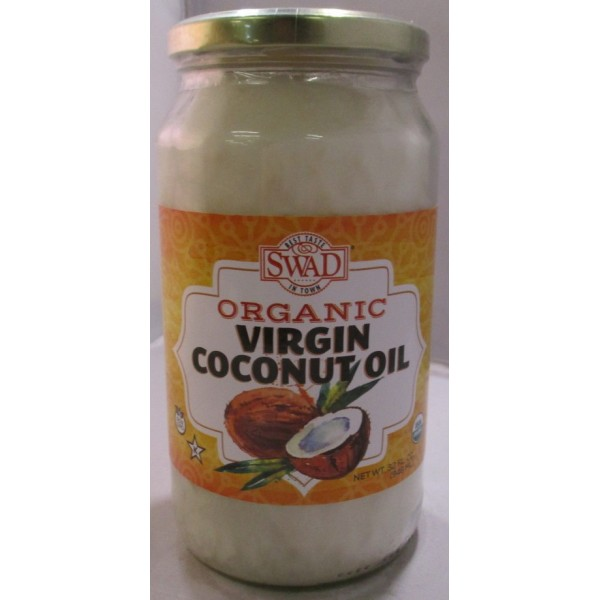 Swad Organic Virgin Coconut Oil 32 Fl Oz