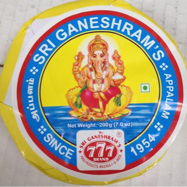 Sri Ganeshram's Appalam 7 Oz / 200 Gms