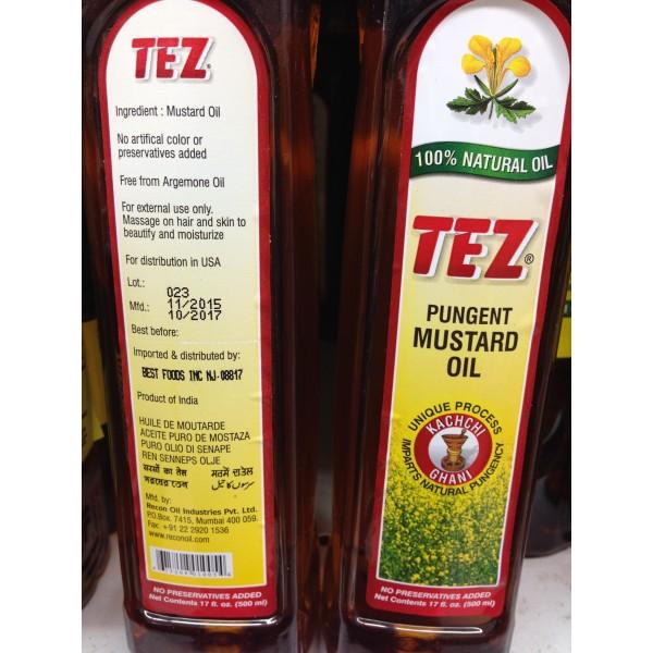 Tez Pungent Mustard Oil 17 Fl Oz