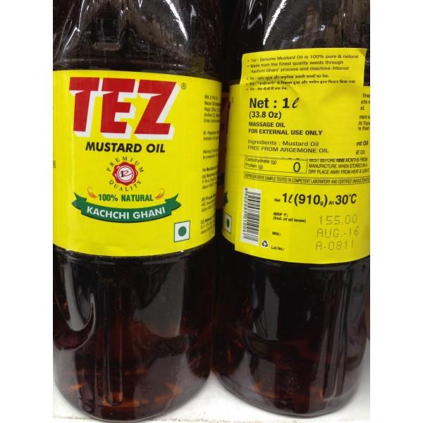 Tez Mustard Oil 33.8 Fl Oz