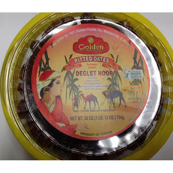 Golden Pitted Dates 28 OZ / 794 Gms