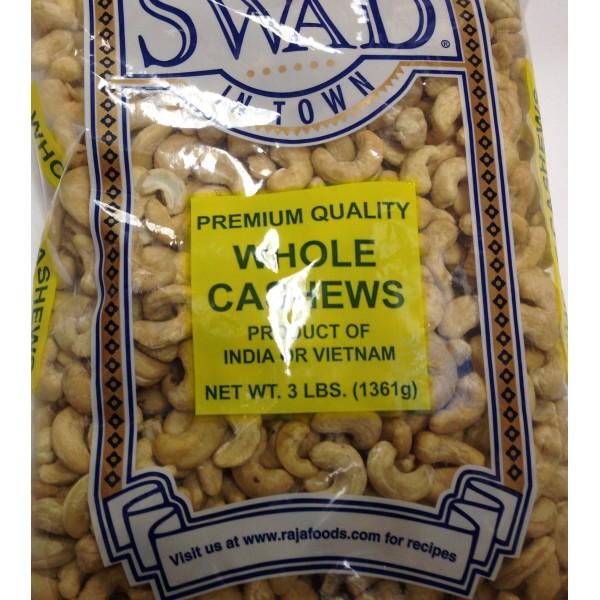 Swad Whole Cashews 48 OZ / 1361 Gms