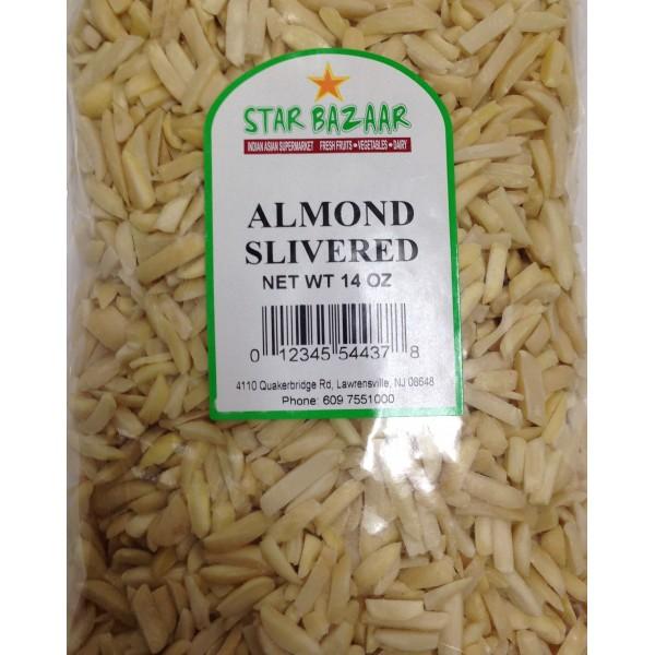 Big Bazaar/ Star Bazaar  Almond Silvered 14 OZ / 397 Gms