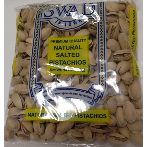 Swad Natural Salted Pistachios 14 OZ / 397 Gms
