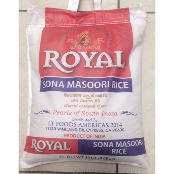 Royal Sona Masoori Rice 20 LB / 9 KG