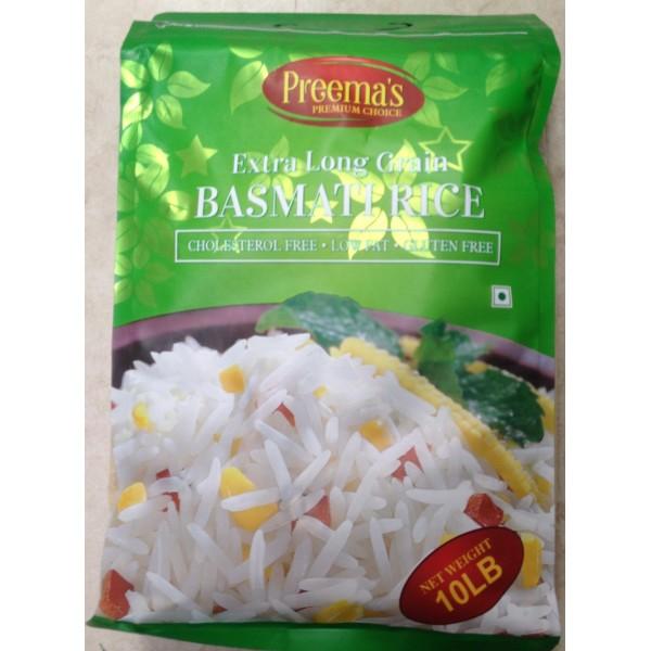 Preema's Extra Long Grain Basmati Rice 10 LB / 4.5 KGs