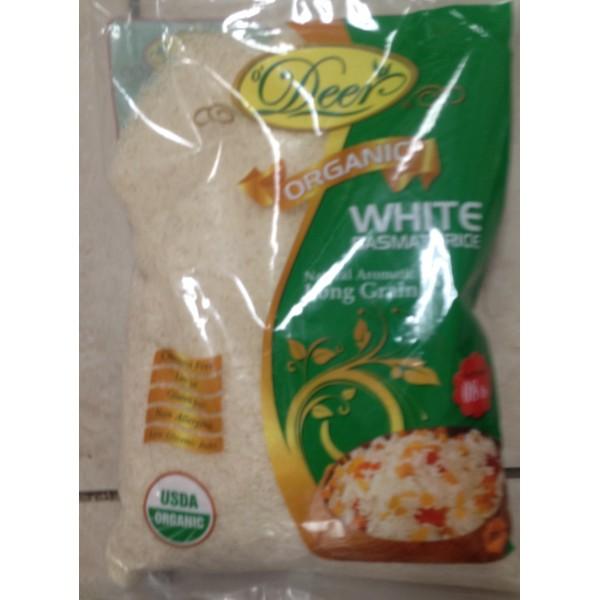 Deer Organic White Basmathi Rice 128 OZ / 3.6 KG