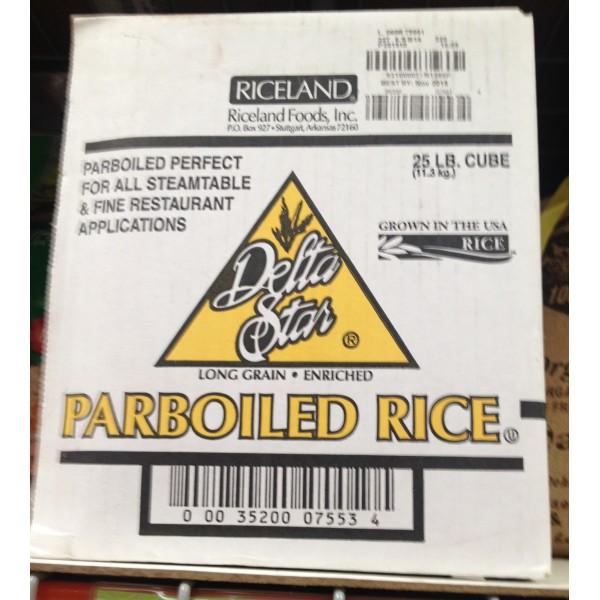 Delta Star Parboiled Rice 400 OZ / 11.34 KG