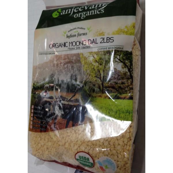 Sanjeevani Organic Moong Dal 2 LB / 907 Gms