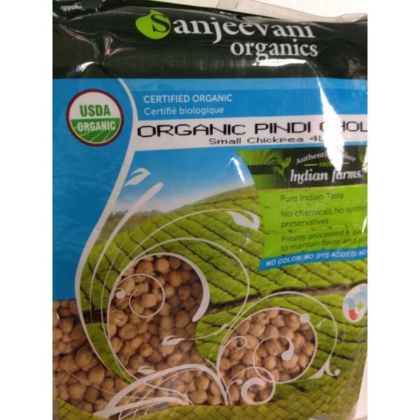 Sanjeevani Organic Pindi Choley 4 LB / 1.8 KG