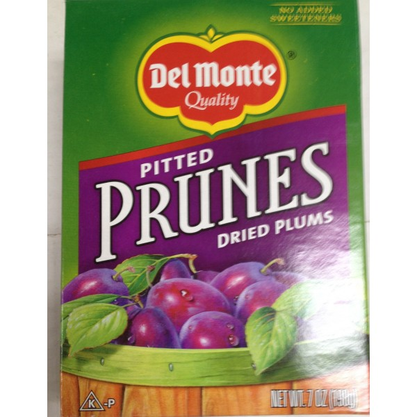 Del Monte Pitted Prunes 7 Oz / 200 Gms