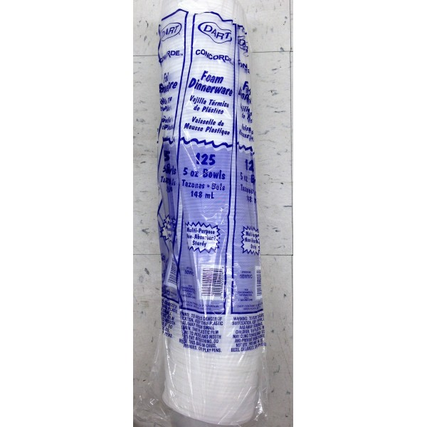 Concorde Foam Dinner Ware 5 OZ / 140 Gms
