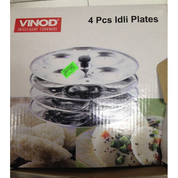 Vinod Stainless Steel cooker with 4 Tier Idli Plate