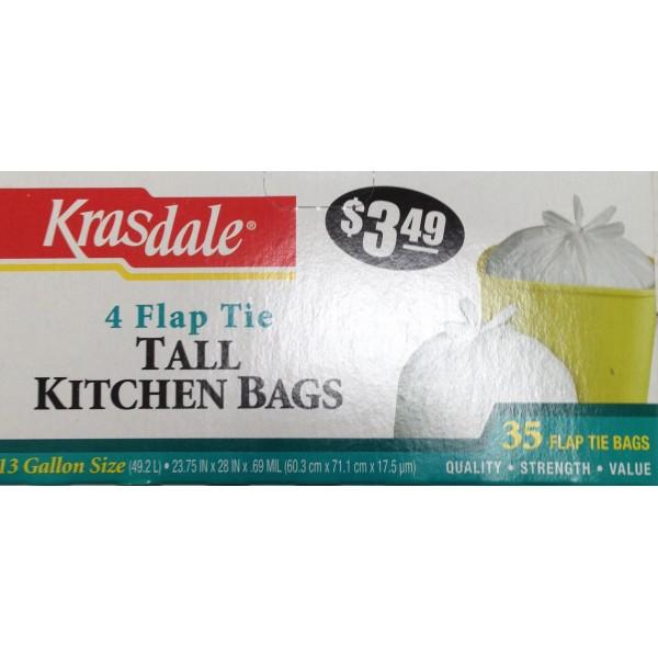 Krasdale Tall Kitchen Bags 10 OZ / 283 Gms