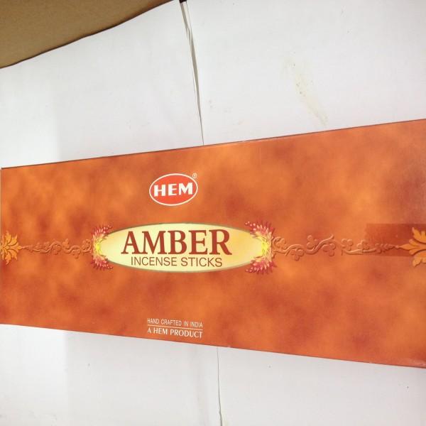 HEM Amber Incense Sticks 1.76 Oz