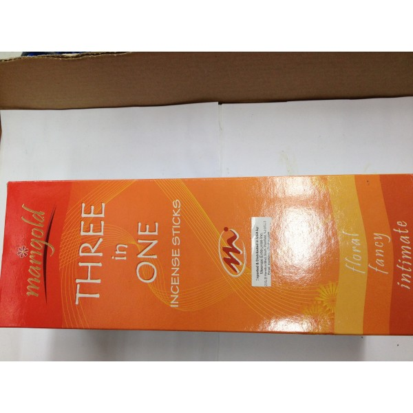 Marigold Three in One Incense Sticks 1.76 Oz