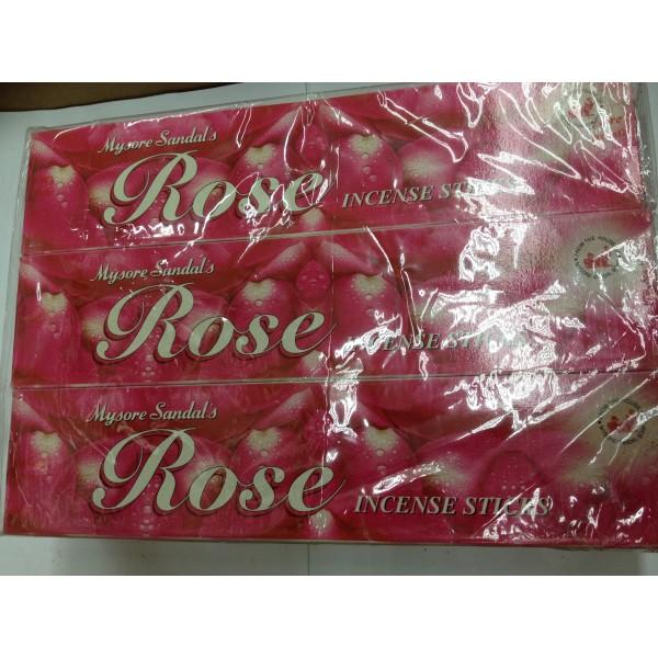 Mysore Sandal Rose Incense Sticks 3.75 Oz