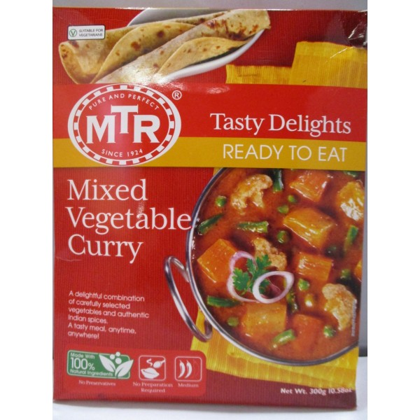 MTR Mixed Vegetable Curry 10.5 Oz / 298 Gms