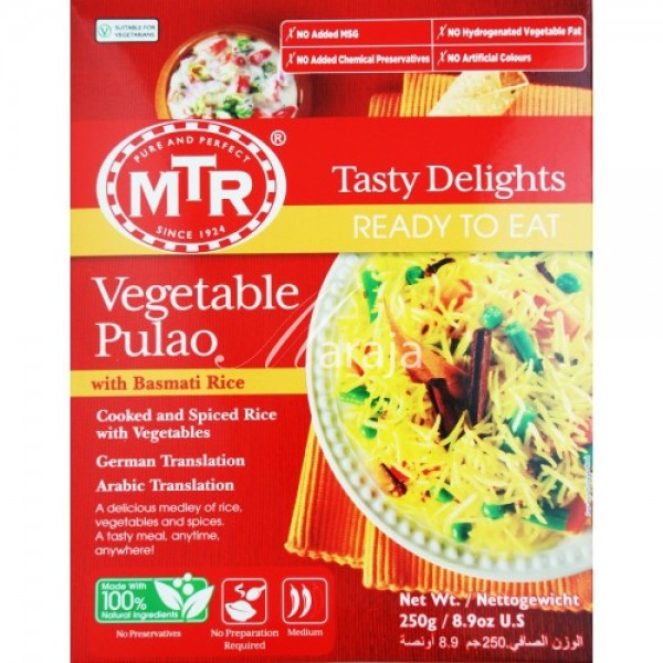 MTR Vegetable Pulao 10.5 OZ /  298 Gms