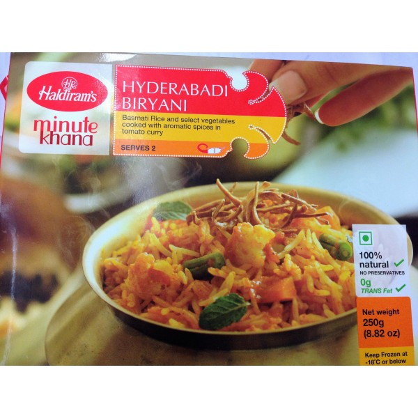 Haldiram'S Hyderabadi Biryani 8.82 OZ /  250 Gms