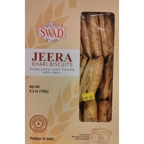 Swad Jeera Khari Biscuits 6.3 OZ / 179 Gms