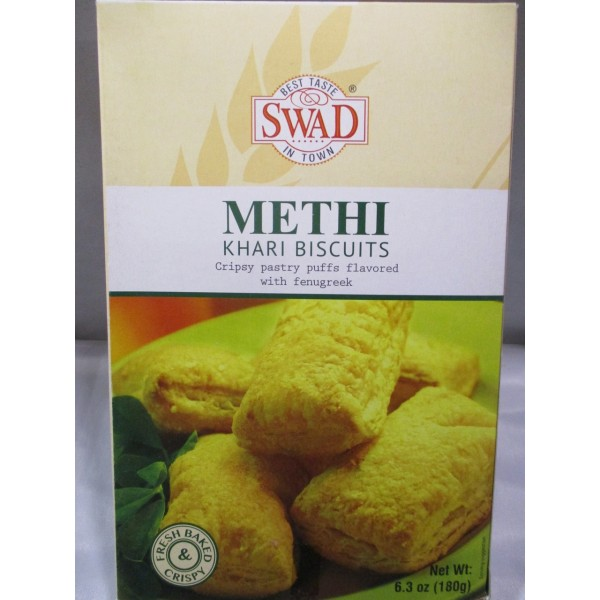 Swad Methi Khari Biscuits 6.3 OZ / 179 Gms