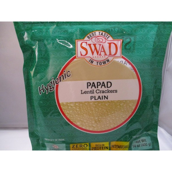 Swad Plain Papad 14 OZ / 400 Gms
