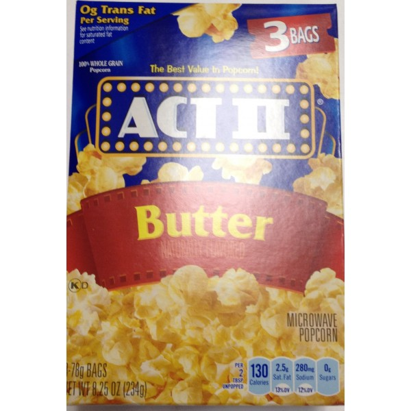 Act II Butter Popcorn 8.25 Oz / 234 Gms