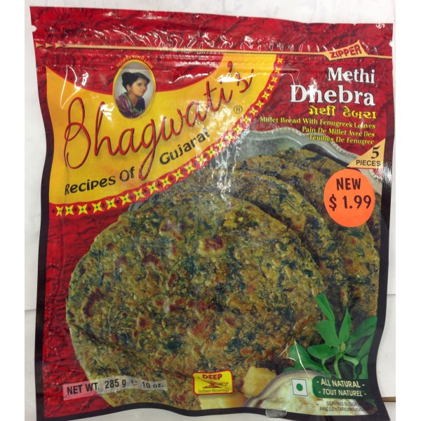 Bhagwati's Methi Dhebra 10.2 OZ / 289 Gms