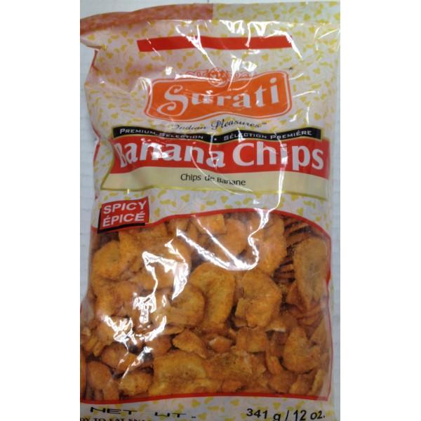 Surati Banana Chips 12 Oz / 341 Gms