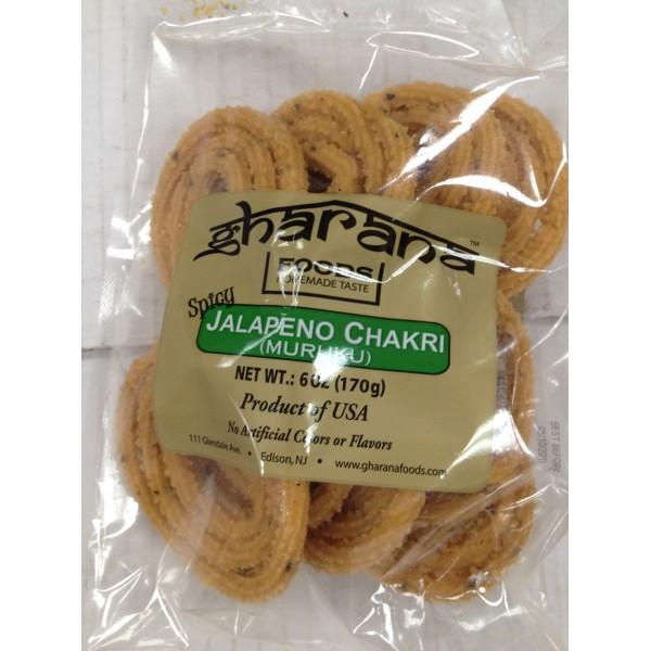 Gharana Foods Jalapeno Chakri 6 Oz / 170 Gms